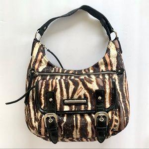 Franco Sarto Animal Print Shoulder Nylon Hobo Bag